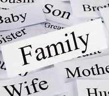 Family words pic